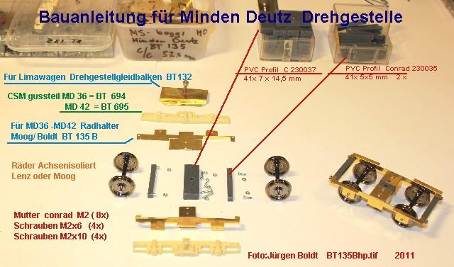 Für meine MOB Anlage - Neue Drehgestelle BT135Bhp