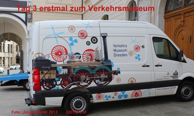 Spur 0 Anlage im Verkehrsmuseum Dresden DDT3F1